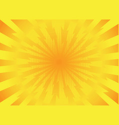Yellow rays pop art comic style background retro vector