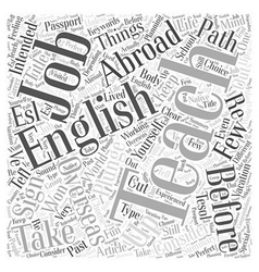 Your Passport To The World Teaching English Abroad vector