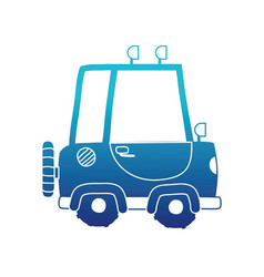 blue silhouette tractor farm vehicle plant vector image vector image