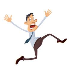 businessman running away vector image
