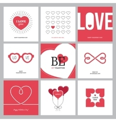 Creative love design concepts set with hearts vector image vector image