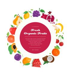 fresh organic fruit - modern colorful vector image vector image