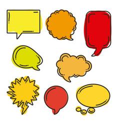 icon set pop art comics vector image vector image