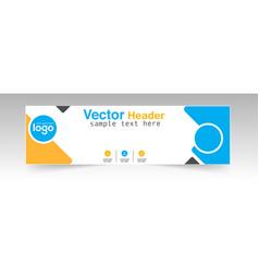 modern header design logo background image vector image