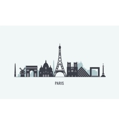 Paris skyline silhouette vector image vector image