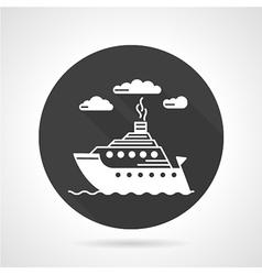 Passenger steamer round icon vector image