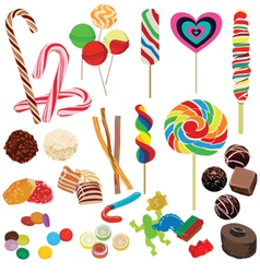 set of different chocolates vector image