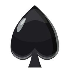 spade symbol plying card icon cartoon style vector image