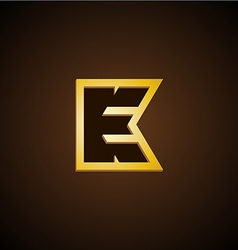 E and K letters monogram vector image