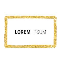 gold glitter frame vector image