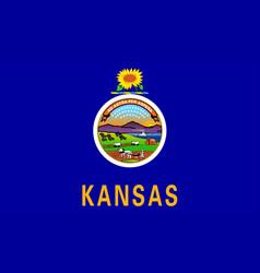 Kansas state flag vector