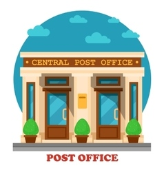 National post office for mail services vector