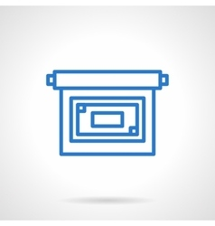 Projector screen icon simple line style vector image