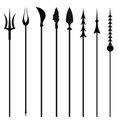 Set mines and tridents isolated white background vector image