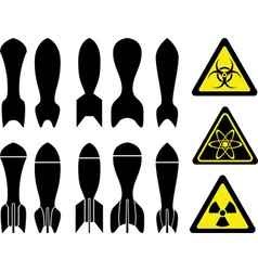 set of bombs vector image vector image