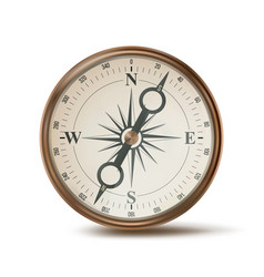 3d compass compass sign navigation sign vector image