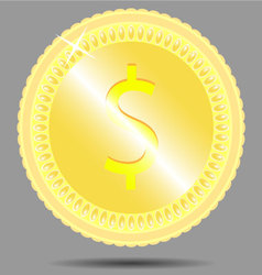 Coin dollar vector image vector image