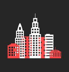colored cityscape icon like origami vector image