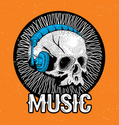 creative music poster vector image
