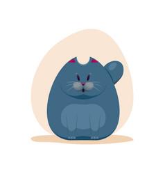 cute surprised fatty smokey blue vector image