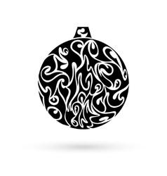 Ornate christmas ball vector image