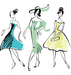 retro fashion vector image vector image