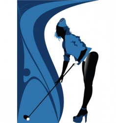 sexy golf vector image vector image