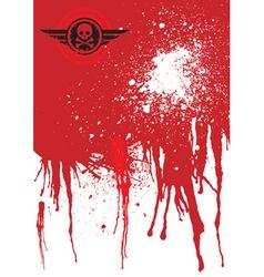 skull blood vector image
