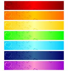 valentines headers vector image vector image