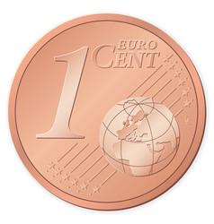 1 euro cent vector