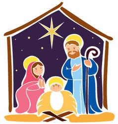 Baby Jesus in a manger 5 vector image vector image