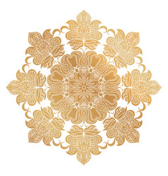 golden mandala ornament vector image