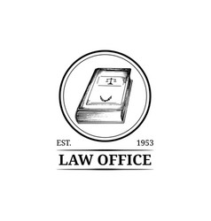 law office symbol with code vector image vector image
