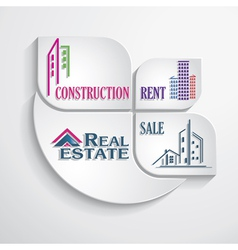 Modern concept for real estate business vector image vector image