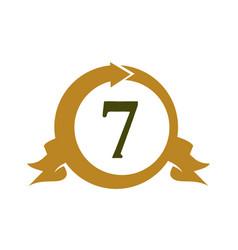 Modern number 7 vector