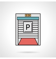 Parking gate flat color icon vector image