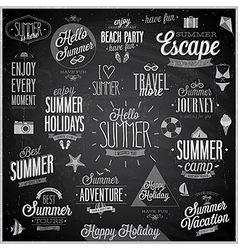 summer chalkboard set vector image