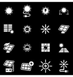 white solar energy icon set vector image vector image