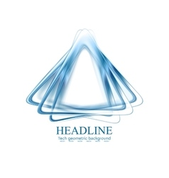 Abstract blue triangles shapes corporate logo vector