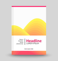 Advertising brochure template vector