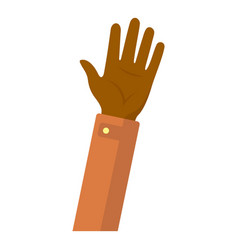 afro american hand boy icon flat style vector image