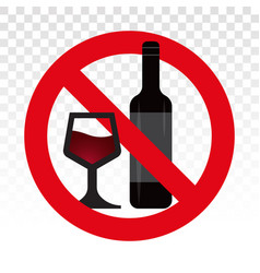 Alcohol free flat icon for apps or website vector
