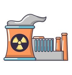 Atomic reactor icon cartoon style vector