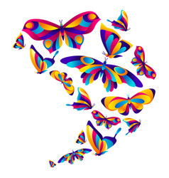 Background design with butterflies vector