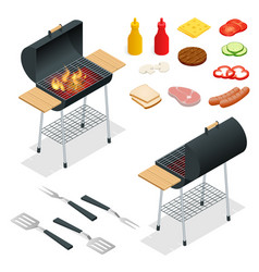 Barbecue design elements grill summer food vector