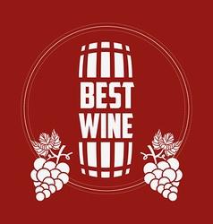 Best wine design vector