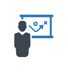 Business strategic planning presentation icon vector