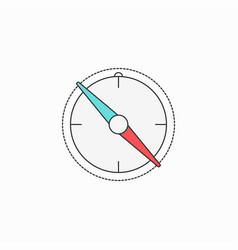 compass creative symbol concept flat thin line vector image