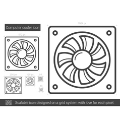 Computer cooler line icon vector image