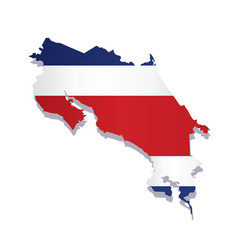 Costa rica flag amp map vector